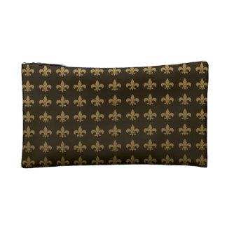 Chocolate Fleur de lis Cosmetic Bag