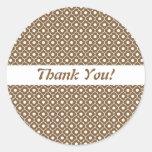 Chocolate Flower Argyle Pattern Envelope Sticker
