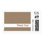 Chocolate Flower Argyle Pattern US Postal Stamp
