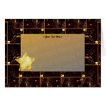 Chocolate Foiled Star template Greeting Cards