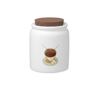 Chocolate Fondue Candy Jar