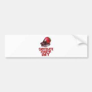 Chocolate Fondue Day - Appreciation Day Bumper Sticker