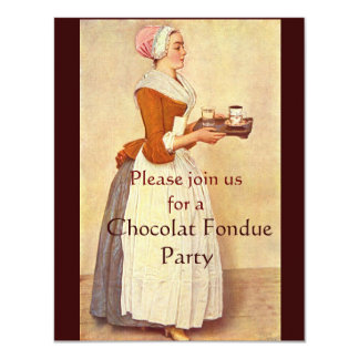 CHOCOLATE FONDUE DINNER PARTY CARD