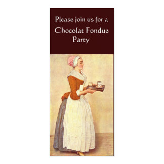 CHOCOLATE FONDUE DINNER PARTY PERSONALIZED INVITATIONS