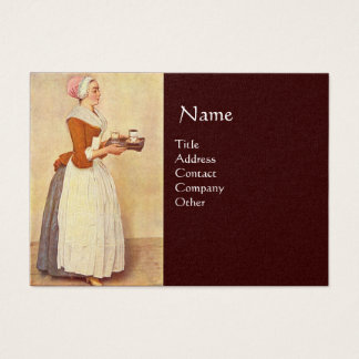 CHOCOLATE FONDUE DINNER PARTY Pearl Paper Business Card