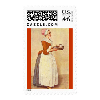 CHOCOLATE FONDUE DINNER PARTY POSTAGE STAMP