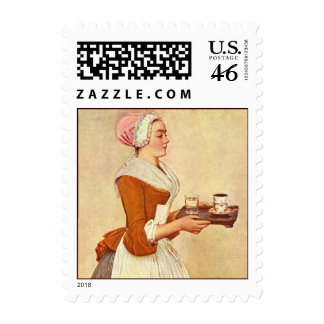 CHOCOLATE FONDUE DINNER PARTY STAMP