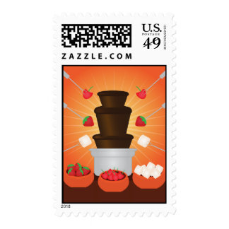 Chocolate Fondue Fountain Postage Stamps