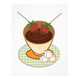 Chocolate Fondue Customized Letterhead
