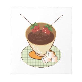 Chocolate Fondue Scratch Pads