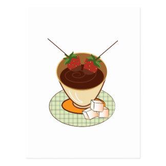 Chocolate Fondue Postcard