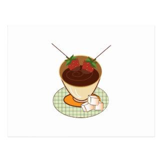 Chocolate Fondue Post Card