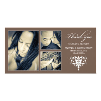 CHOCOLATE FORMAL COLLAGE | WEDDING THANK YOU CARD