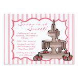 Chocolate Fountain Birthday 5x7 Paper Invitation Card
