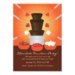 "Chocolate Fountain Fondue Party Invitation 5"" X 7"" Invitation Card"