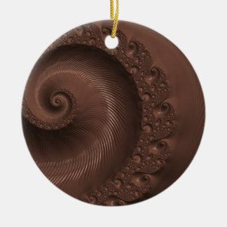 Chocolate fractal design illustration ornament