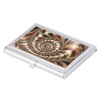 Chocolate Fractal Swirl Business Card Case