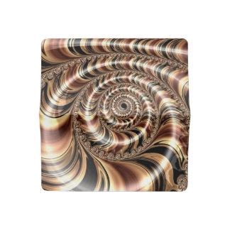 Chocolate Fractal Swirl Checkbook Cover