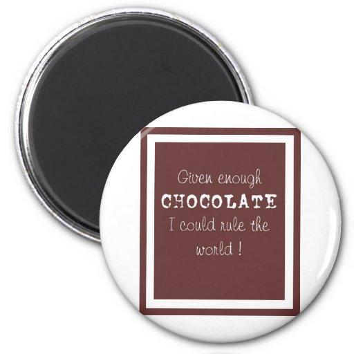 chocolate fridge magnets
