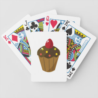 Chocolate Frosted Cupcake Bicycle Playing Cards
