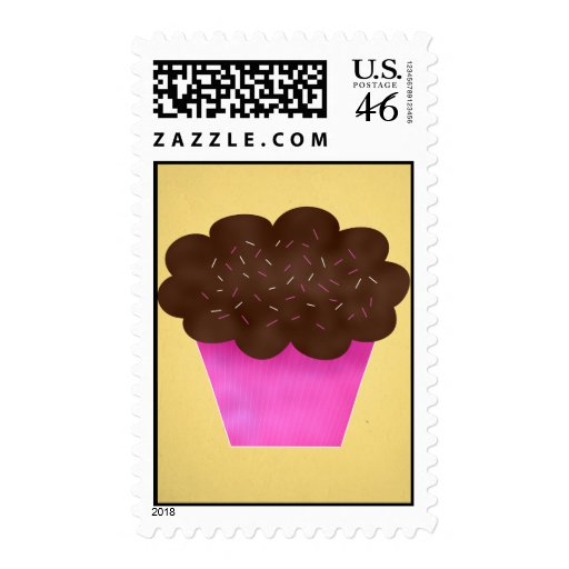Chocolate Frosted Cupcake Design Stamps