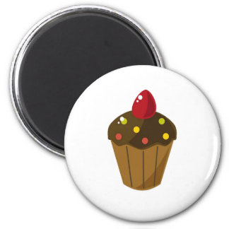 Chocolate Frosted Cupcake Magnet