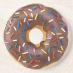 Chocolate Frosted Donuts Drink Coaster