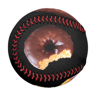 Chocolate Frosted Yellow Cake Donut with Bite Out Baseball