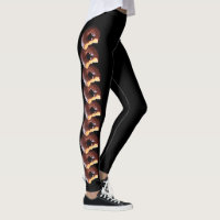 Chocolate Frosted Yellow Cake Donut with Bite Out Leggings