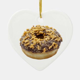 Chocolate Fudge Ring Donut Ceramic Ornament