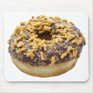 Chocolate Fudge Ring Donut Mouse Pad