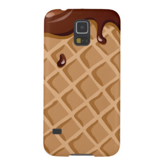 Chocolate Fudge Waffle Cone Case For Galaxy S5