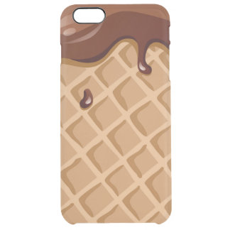 Chocolate Fudge Waffle Cone Clear iPhone 6 Plus Case