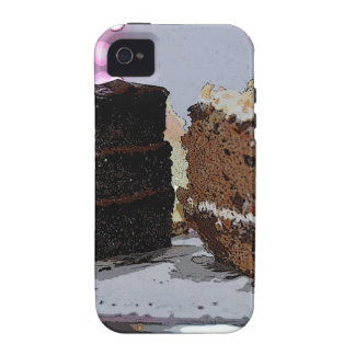 Chocolate Fudge y Carrot Cake - ilustrada iPhone 4 Carcasa