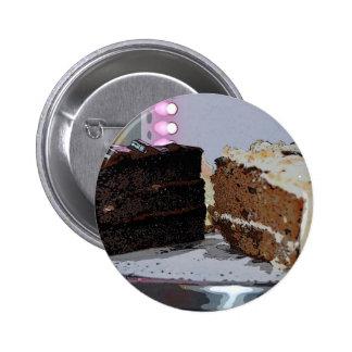 Chocolate Fudge y Carrot Cake - ilustrada Pins