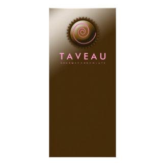 Chocolate gastrónomo exclusivo 311 plantilla de lona