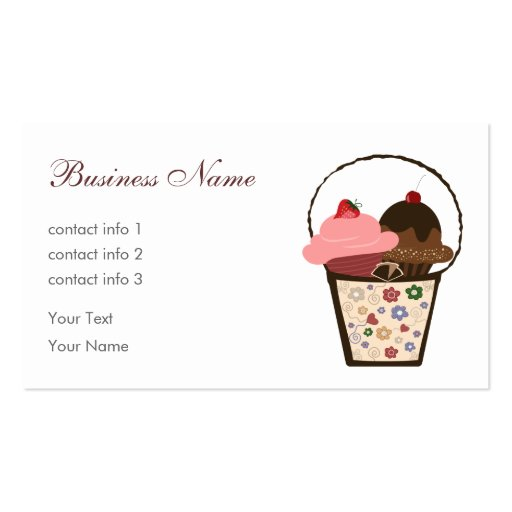 Chocolate Gift Business Card