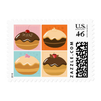 Chocolate Gift Postage Stamp
