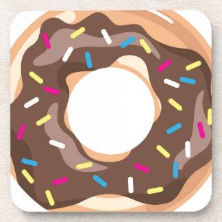 Chocolate Glazed Donut Beverage Coaster
