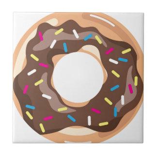 Chocolate Glazed Donut Ceramic Tile