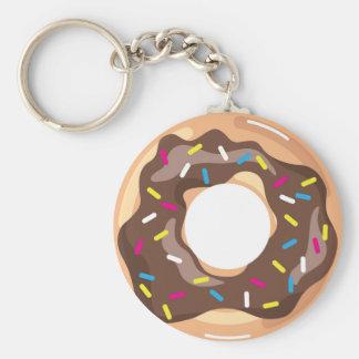 Chocolate Glazed Donut Keychain