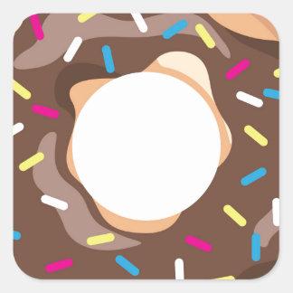 Chocolate Glazed Donut Square Sticker