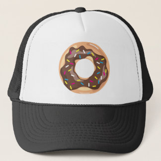 Chocolate Glazed Donut Trucker Hat