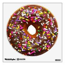 Chocolate glazed donut with sprinkles wall sticker