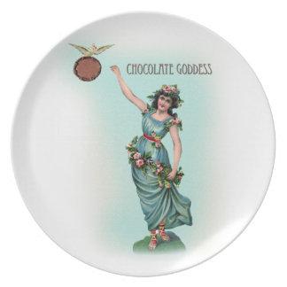 Chocolate Goddess Grecian Dinner Plate