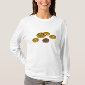 Chocolate gold coins T-Shirt