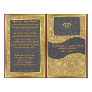 Chocolate Gold Deluxe Wedding Program