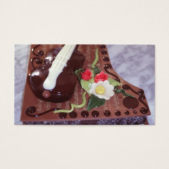Chocolate grand piano business card