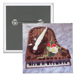 Chocolate grand piano button