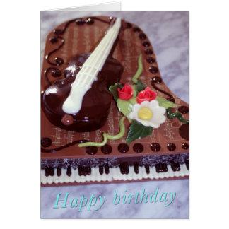 Chocolate grand piano card